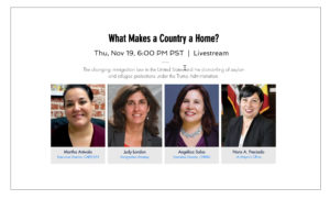 """""""What makes a country a home?"""" event"""